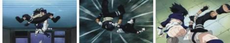 Sasuke melancarkan shishi rendan pada Yoroi
