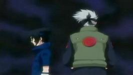 Kakashi mengingatkan Sasuke jangan menggunakan sharingan
