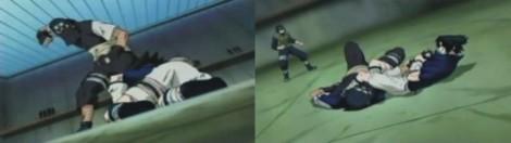 Yoroi akan memukul Sasuke namun Sasuke berhasil mengunci Yoroi