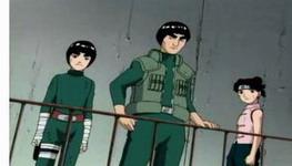 Lee dan gai kaget Sasuke bisa melakukan kage buyou hanya sekali lihat