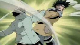 Shino memukul Zaku