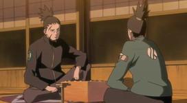 Shikamaru bermain shogi dengan ayahnya