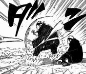 Pain Gakidou menyerap rasen shuriken