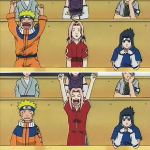 Naruto dan Sakura bergantian senang