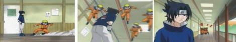Sasuke tiba ti WC, Naruto kembali menyerang namun sakit perutnya membuat ia harus kembali ke wc