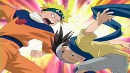 Naruto memukul Konohamaru