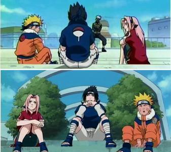 Naruto, Sakura dan Sasuke memperkenalkan diri