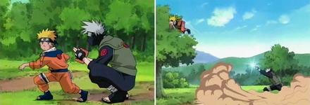 kakashi meneyrang dengan shonen goroshi