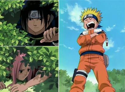 Sasuke dan Sakura sembunyi, Naruto menantang