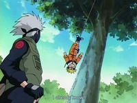 Naruto terkena tali perangkap
