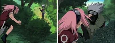lalashi ada didepan Sakura namun tiba-tiba ada di belakang