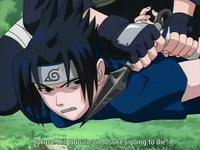 Kakashi menyandera Sasuke