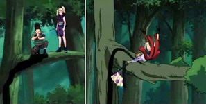 Shikamaru tiba tepat waktu menyelamatkan Temari