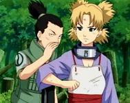 Shikamaru membisikan rencana pada Temari