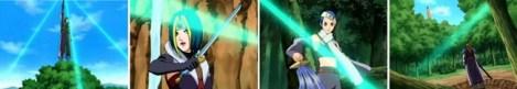 Jin mengeluarkan 3 cahaya hijau
