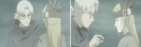Kabuto meminta Yuukimaru memakai topi khusus dan meminum obat khusus