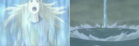 Yuukimaru mengeluarkan chakra ke langit