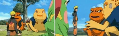 Naruto memanggil Gamakichi dan Gamatatsu