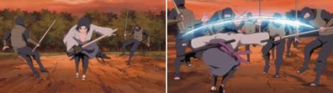 Sasuke menyerang