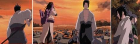 Sasuke memasukan pedagnnya dan berjalan ke hutan
