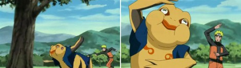 Gamatatsu dan Naruto menari