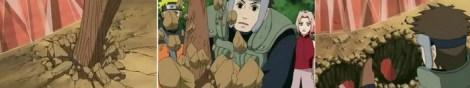 Yamato mencoba menjebol kristal dengan doton tapi gagal