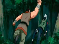 Gozu menyerang kakashi