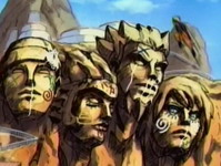 Coretan di monumen Hokage