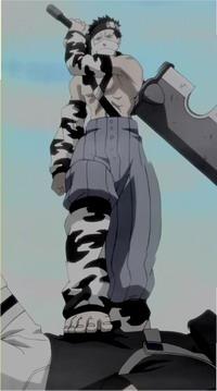 Zabuza menginjak Sasuke