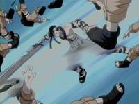 Zabuza menghabisi kage bunshin Naruto