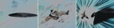 shuriken berubah menjadi naruto dan segera menyerang dengan kunai
