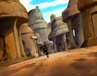 Penjaga yang hidup berlari ke Gaara