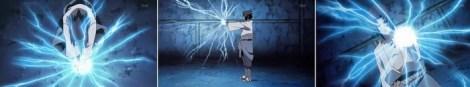 Sasuke memanipulasi bentuk listrik