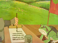 Jiraiya menulis surat