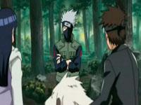 kakashi meminta pendapat Kiba dan Hinata