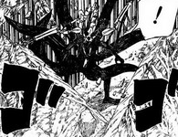Naruto Yoko diantara tanah yang terhisap