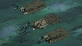 Yamato, Naruto dan kakashi tidur