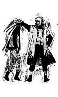 Yondaime Hokage dan calon Rokudaime Hokage