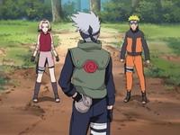 Kakashi, Naruto dan Sakura bersiap