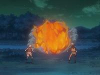 bola api menyerang Naruto dan Sakura