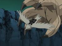 tangan Ichibi mengejar Deidara