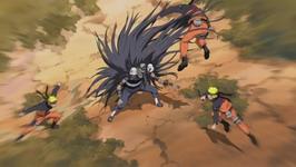 Kakuzu vs 3 Naruto