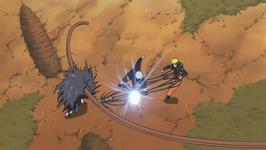 Kakashi memotong tendril Kakuzu dan menolong Naruto