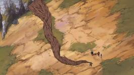 Kakuzu menghindar serangan Yamato
