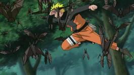 Naruto melewati kerumunan kelelawar
