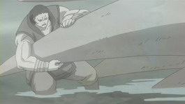 Gozu memegang ekor Sanbi