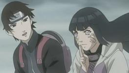 Hinata melihat dengan byakugan
