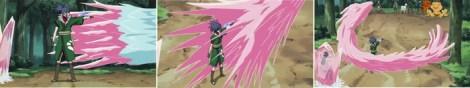Guren mengristalkan serangan Naruto
