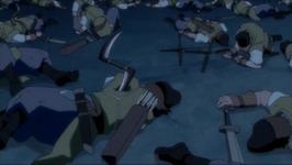 para prajurit yang mati