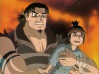 Gantetsu membawa Akio dalam ingatan Todoroki
